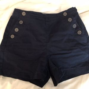 A New Day High Wasted Navy Chino Shorts